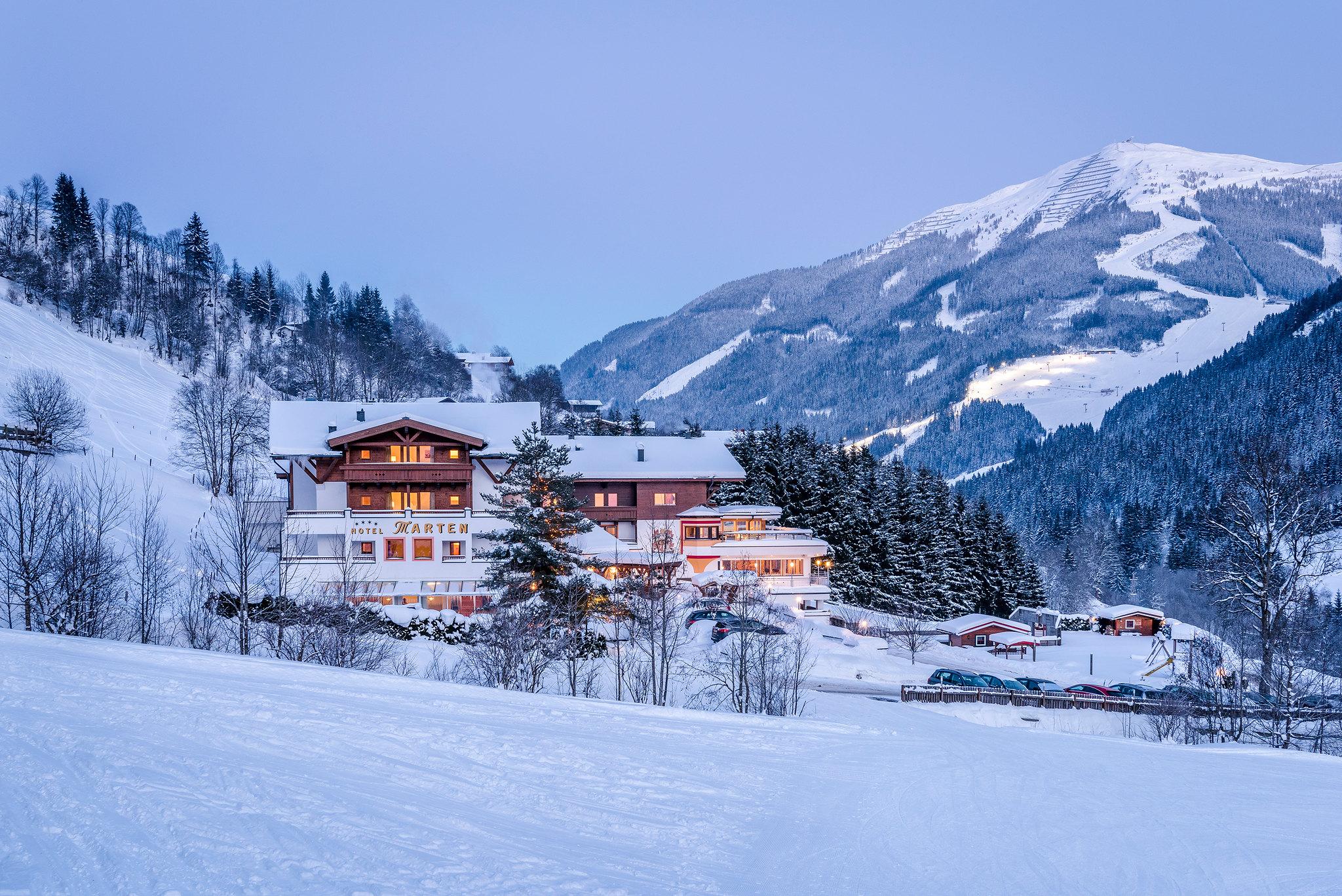 Winterlandschaft Hotel Marten in Saalbach-Hinterglemm