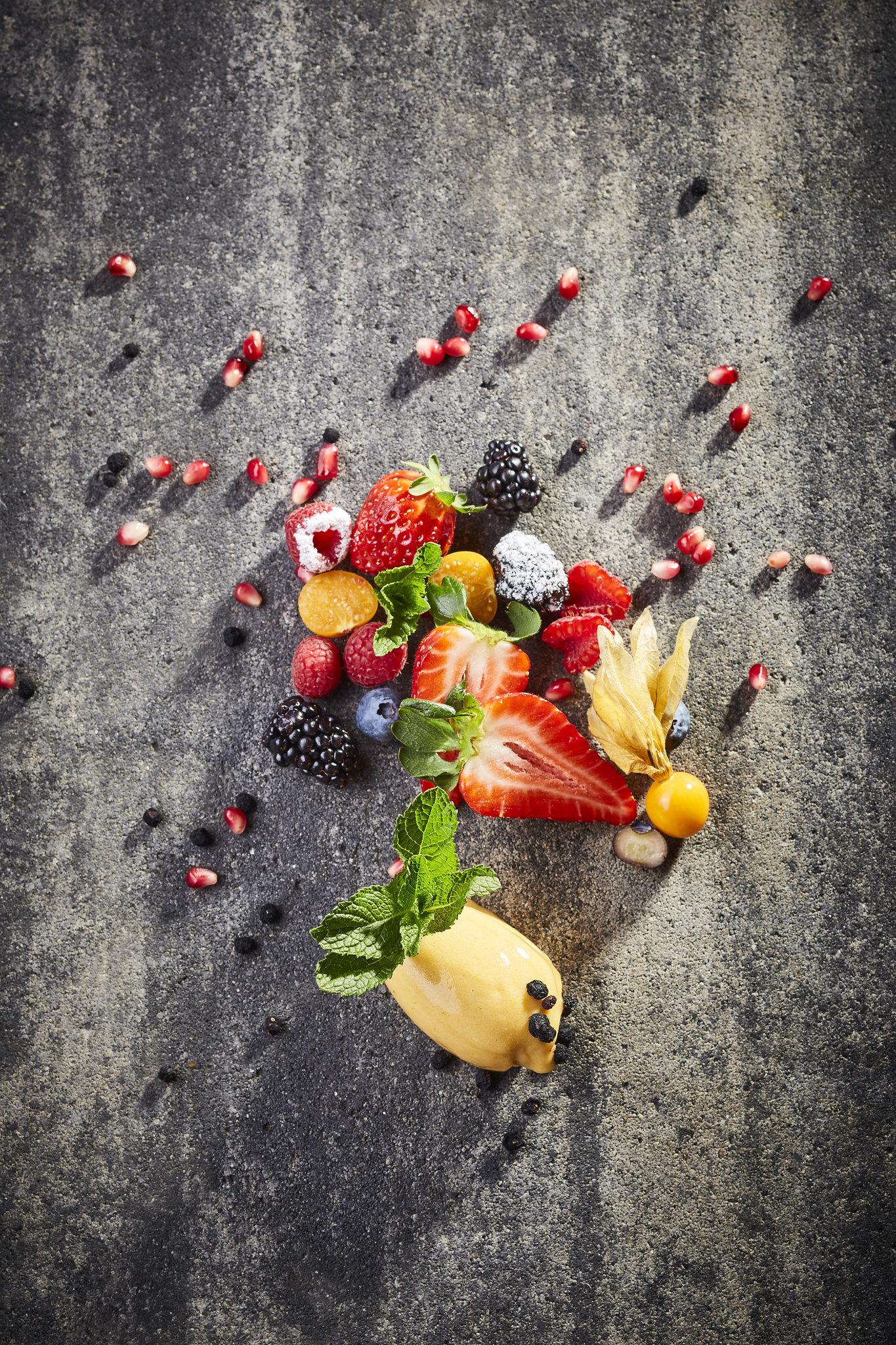 Frucht Dessert im Hotel Marten