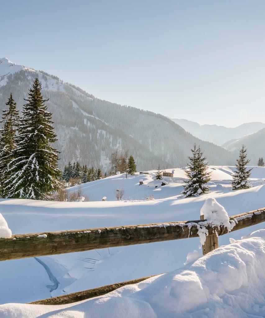 Winterlandschaft in Saalbach-Hinterglemm