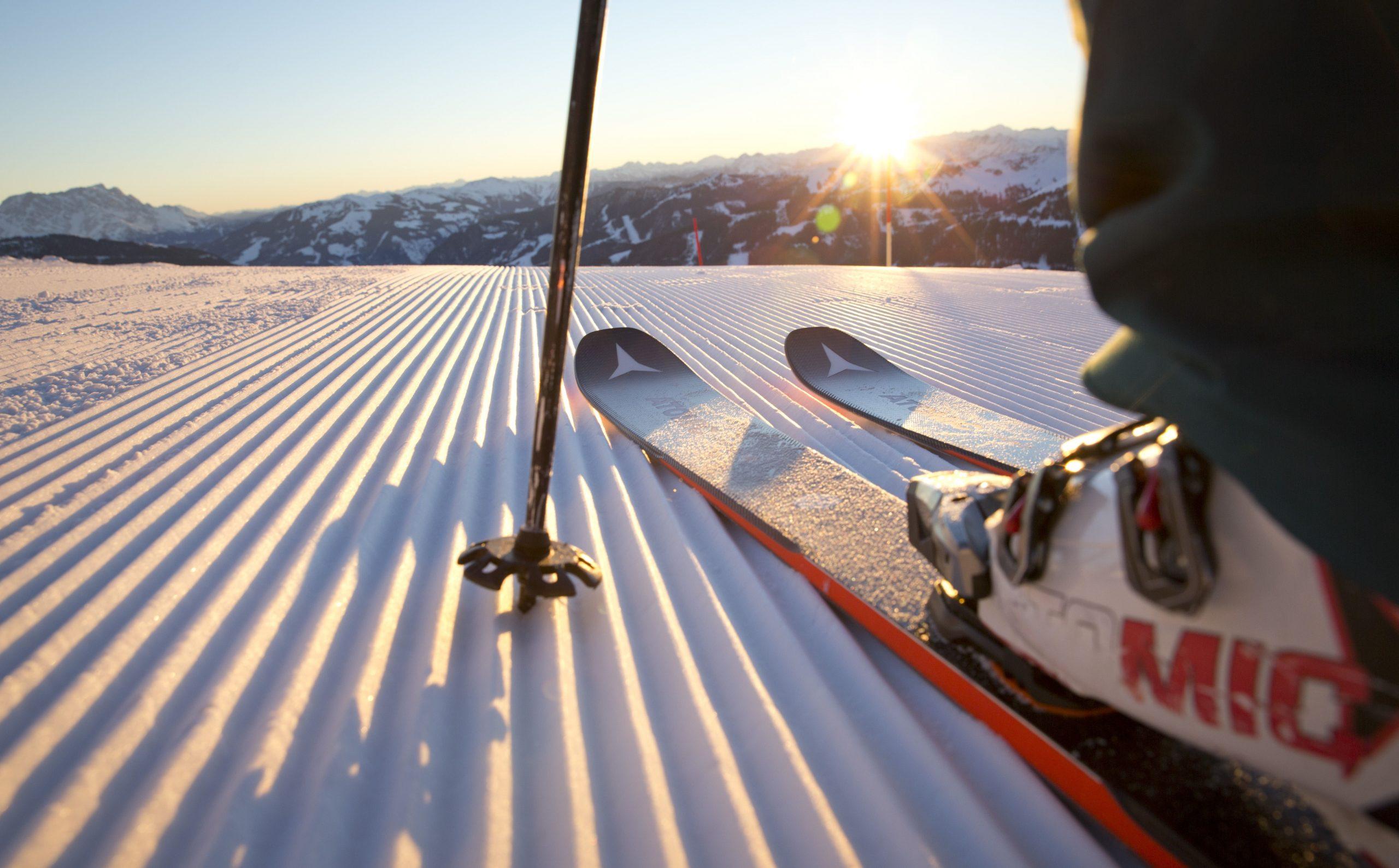 Skiabfahrt in Saalbach-Hinterglemm